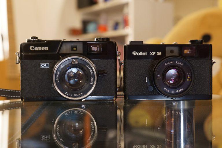 Rollei XF35とニューキヤノネットQL17